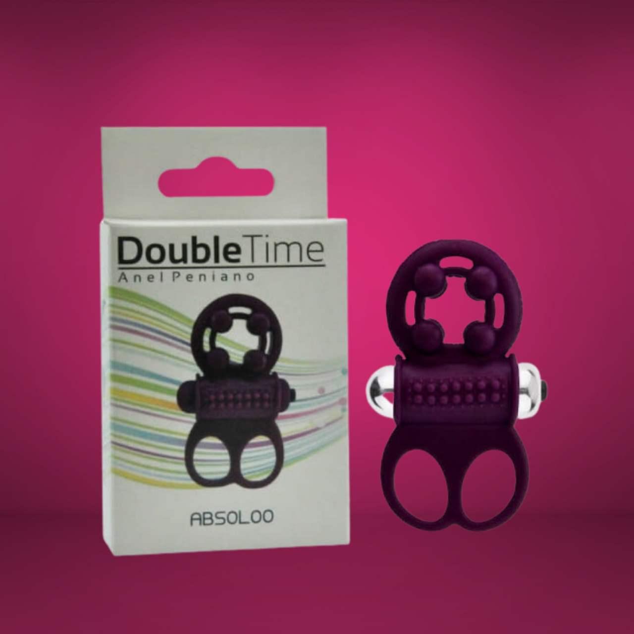 Anel Peniano Com Estimulador Double Time 10 Modos de Vibração Absoloo