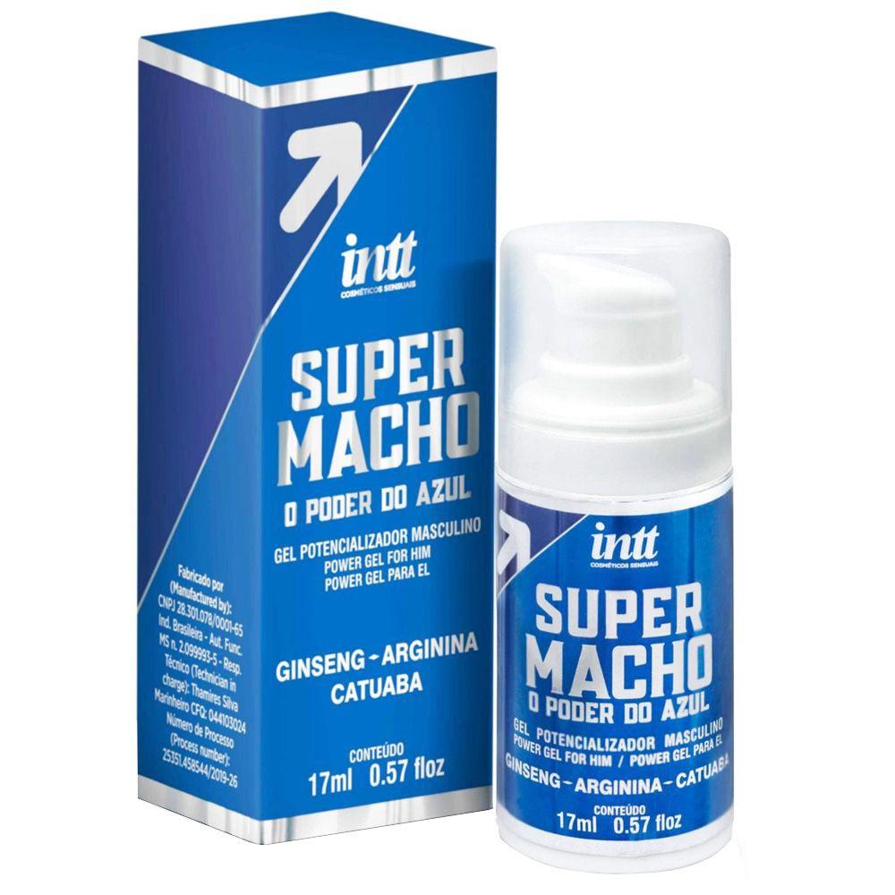 Super Macho o Poder do Azul Gel Estimulante Masculino 17ml INTT