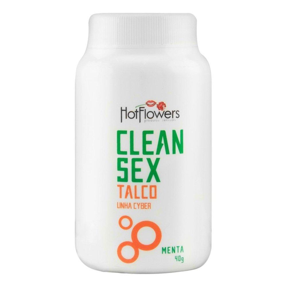 Clean Sex Talco para Cyber 40g Hot Flowers