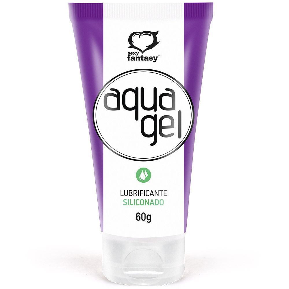 Aquagel Gel Lubrificante Siliconado 60g Sexy Fantasy