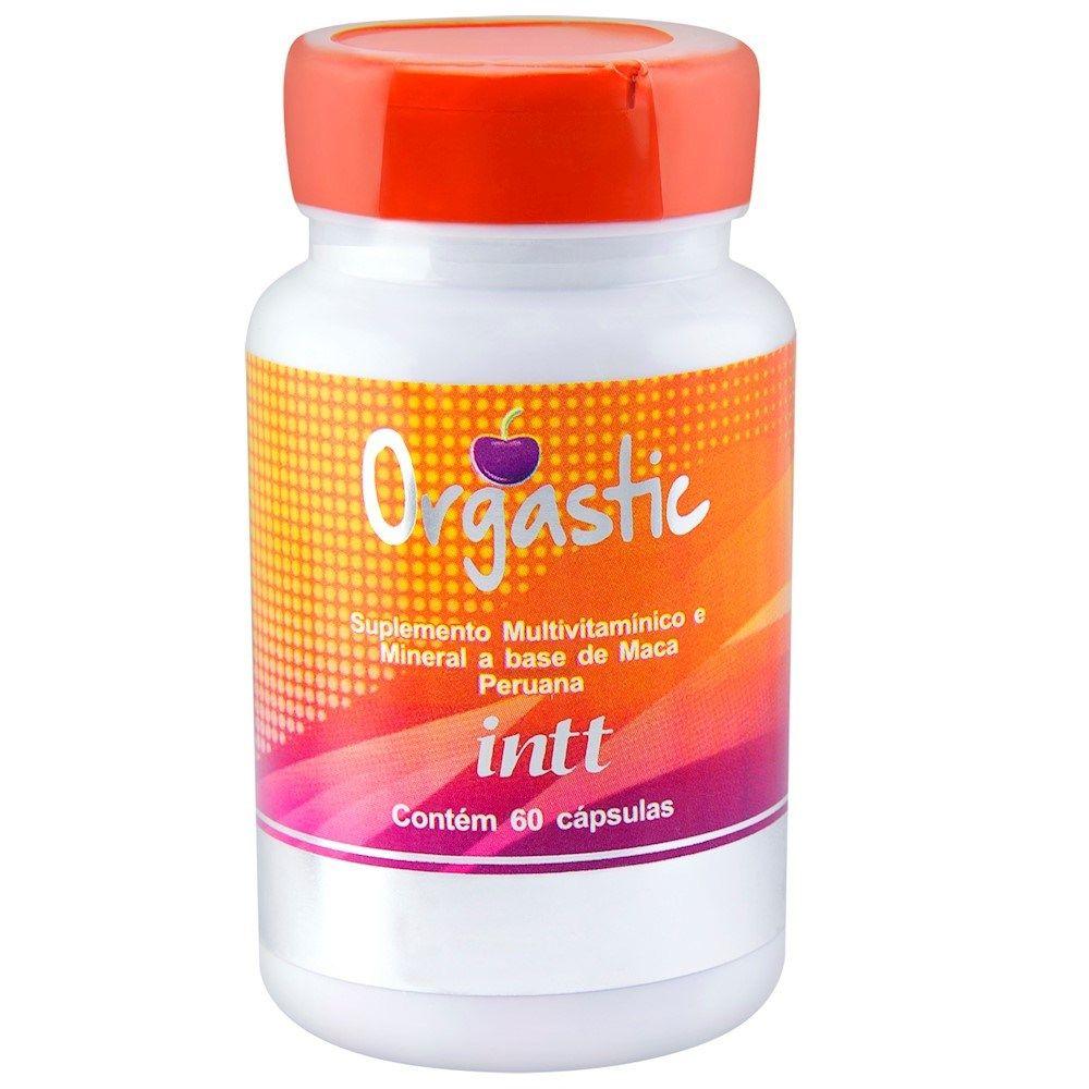 "Orgastic Estimulante Unissex ""Viagra Feminino"" 60 Cápsulas INTT"