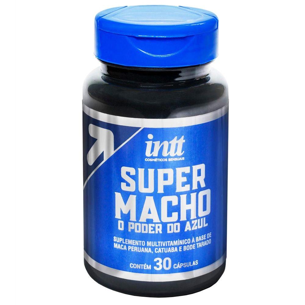 Super Macho Suplemento Estimulante Masculino 30 Cápsulas Intt