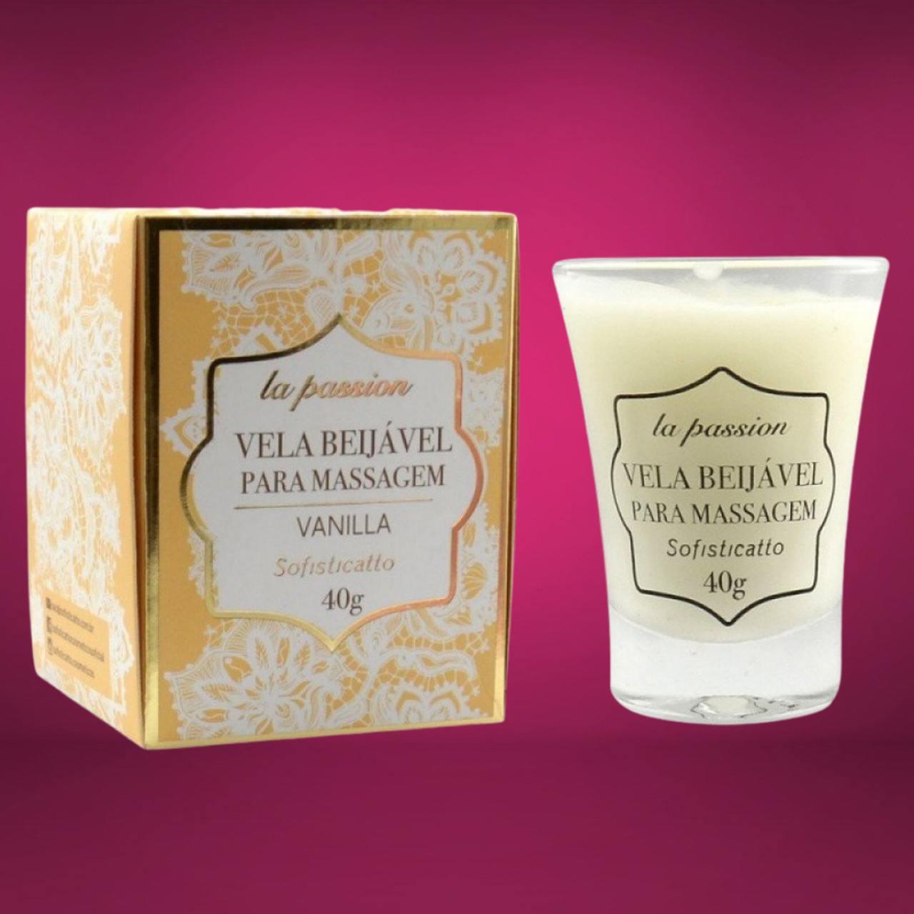 Vela Erótica Beijável para Massaagem Vanilla 40g Sofisticatto