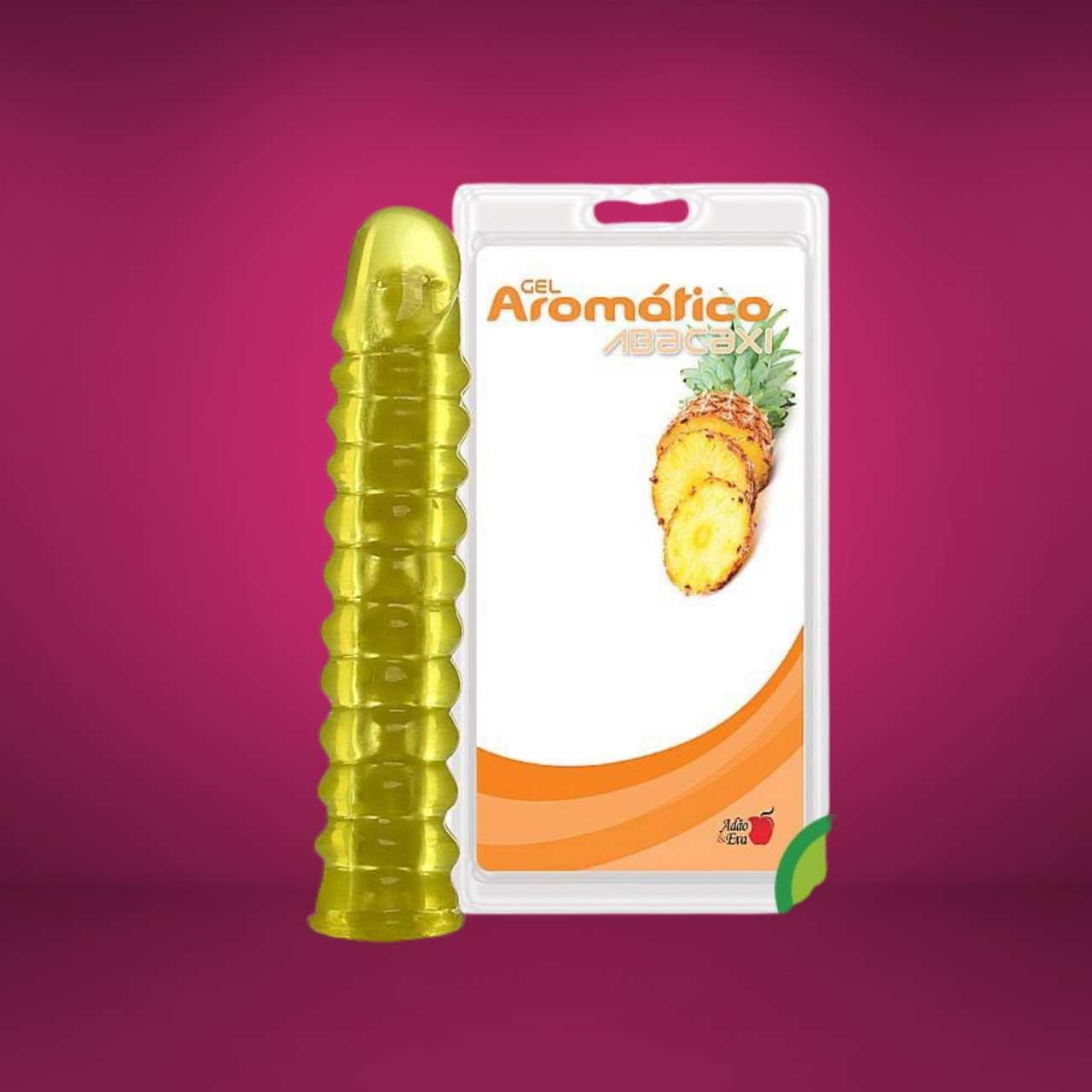 Prótese Gel Articulado Aroma de Abacaxi 23 x 3,5cm Adão & Eva