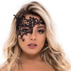 Máscara Sexy Vazada Preta Nayla Sapeka