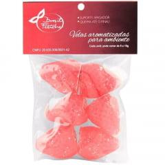 Velas Aromáticas Morango Vermelho 6 Unidades Brasil Fetiche