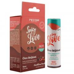 Spicy Love Gel Beijável Hot Chocolate com Pimenta 15ml Pessini