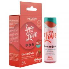 Spicy Love Gel Beijável Hot Morango 15ml Pessini