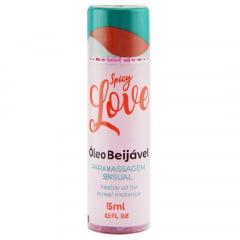 Spicy Love Gel Beijável Hot Morango com Champanhe 15ml Pessini