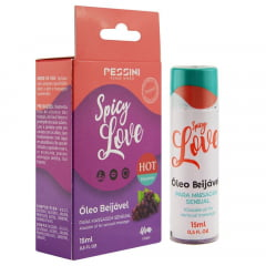 Spicy Love Gel Beijável Hot Uva 15ml Pessini