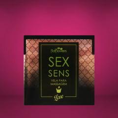 Vela Aromática de Massagem Sensual Love Sex Sens 20g Hot Flowers