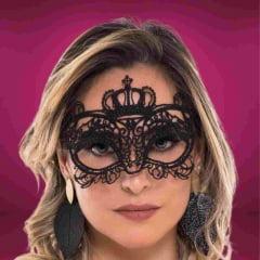 Máscara Sexy Preta Carmim Sapeka