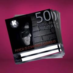 Cartão de Presente 50 Formas de Prazer Homem K-Import