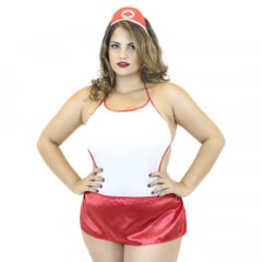 Mini Fantasia Plus Size Body Salva Vidas Mil Toques