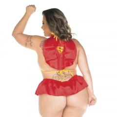 Mini Fantasia Plus Size Super Girl Pimenta Sexy