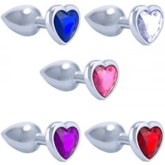 Plug Metal Jóia Coração Pequeno Importado